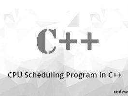 CPU Scheduling Program in C++