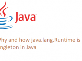 Why and how java.lang.Runtime is a Singleton in Java