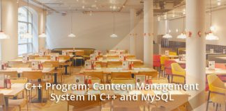C++ Program: Canteen Management System in C++ and MySQL