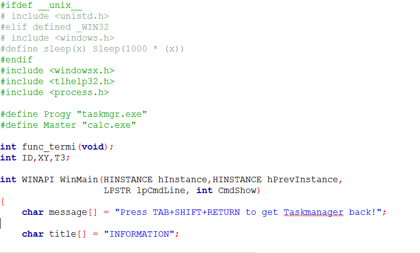 Program to Stop Double Process in C