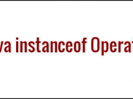 What is the use of instanceof operator in Java?